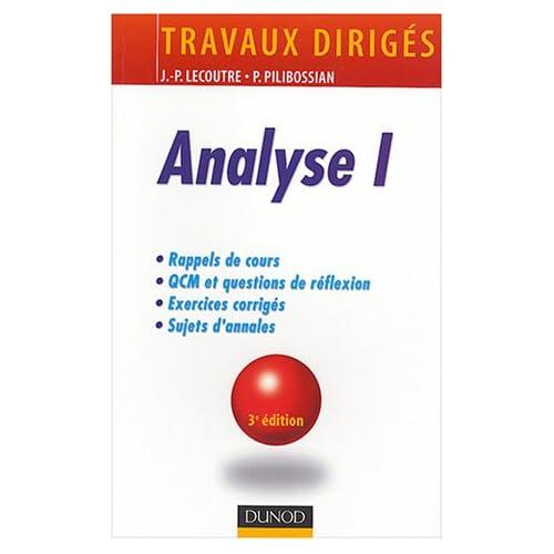 Analyse I : Travaux dirigés