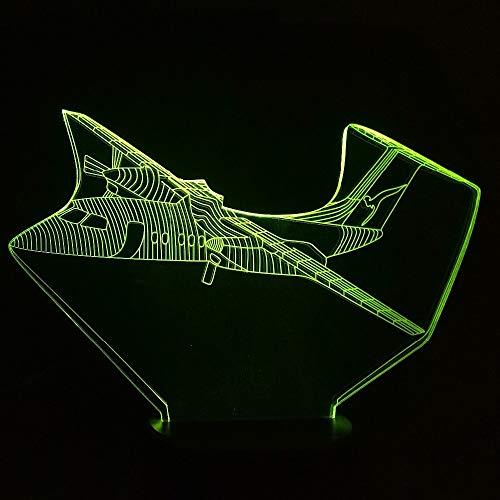 Nachtlicht New Glider Flugzeug 3D Led Lampe 7 Farbwechsel Touch Schalter Flugzeug Nachtlicht Atmosphäre Lampe Schlafzimmer Licht Für Jungen Urlaub Geschenk