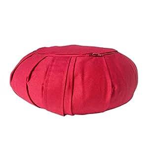 Gravolite Zafu Cotton Meditation Cushion, Adult (Maroon)