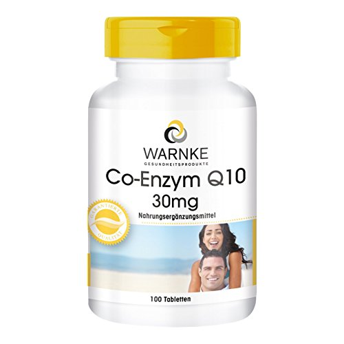 Warnke Co-Enzym Q10 30mg 100 Tablette, 1er Pack (1 x 45 g) - Antioxidant 30 Tabletten