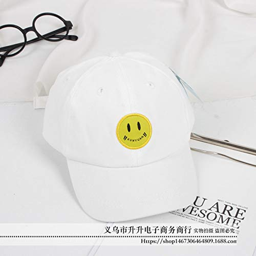 Mädchen Kostüm Ska - mlpnko Baseballhutbaby-smileykappe der neuen Kinder der Jungen und der Mädchen wildes Weiß 50-52CM