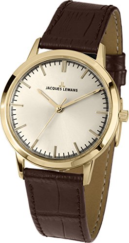 Jacques Lemans Nostalgie N-1562B Gents Brown Leather Strap Watch
