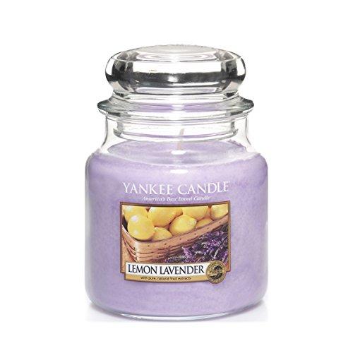 Yankee Candle Glaskerze, mittel, Lemon Lavender