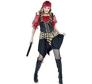 Fyasa 706058-t04disfraz de pirata niña rojo, grande
