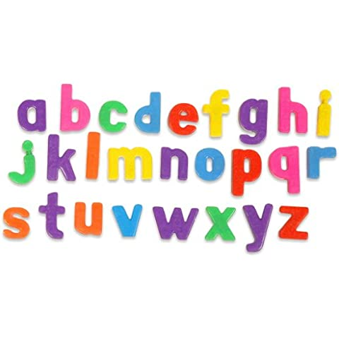 Miniland Educational 154093 - Lote de letras minúsculas magnéticas infantiles, 165 unidades