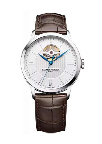 Baume & Mercier Classima/orologio uomo/quadrante argentato/cassa acciaio/cinturino alligatore testa di moro/ref. M0A10274
