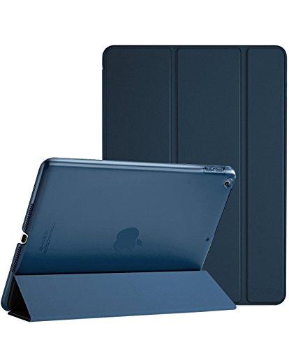 ProCase iPad 9.7 Hülle 2018 iPad 6 Generation /2017 iPad 5 Generation Tasche- Äußerst Schlank Leichtgewicht Ständer mit Transluzent Matt Rückseite Intelligente Hülle für Apple iPad 9.7 Zoll -Navy blau