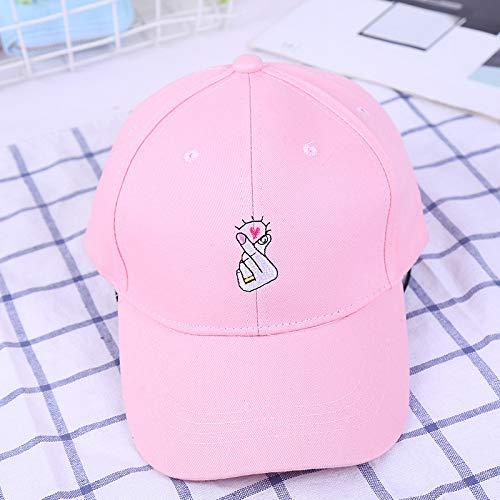 zlhcich Englische Stickereibaseballmütze Koreanische Version der Gezeiten der Sonntagsmütze des Wilden Paares -