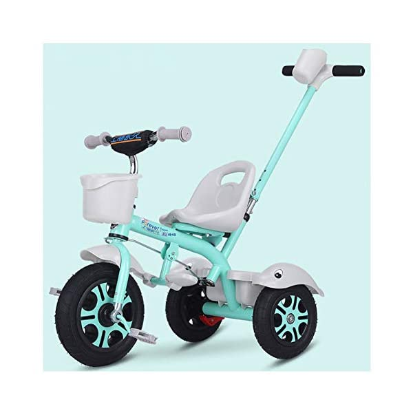 GSDZSY - Kids Tricycle Trike 2 In1, With Removable Adjustable Push Handle Bar,EVA Soft Wheel,Seat Can Be Adjusted, Folding Footrest, 2-6 Years,D GSDZSY  1