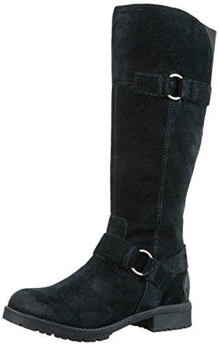 Clarks Damen Faralyn Dawn Biker Boots Schwarz (Black Suede)