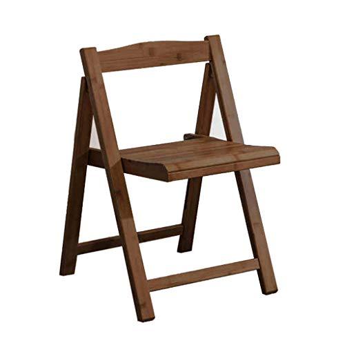 KHL Hochwertiger Bambusklappstuhl, strapazierfähiger Tisch Bambusstuhl, klappbarer Angelstuhl, Freizeitstuhl, Bürostuhl (Farbe : Dark Brown)
