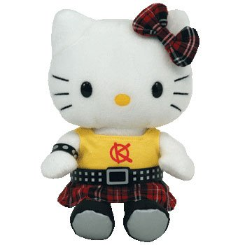 TY Beanie Baby ~ Hello Kitty Punk UK Exclusive (Babies Kitty Beanie Hello Ty)