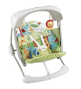Fisher Price Rainforest Take Along Swing And Seat Set New