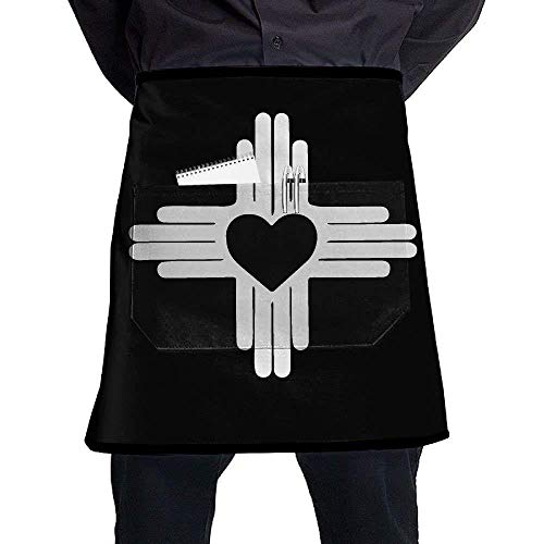 dfhfdshfdshsd dfhfd Delantales,Delantales para barbacoas y ahumadores,New Mexico State Flag Heart Symbol Waterproof Cooking Chef Kitchen Aprons Women's Fashion