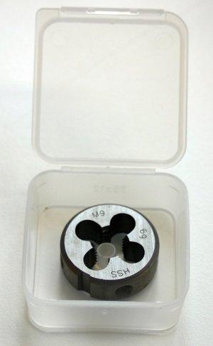 Filière en acier rapide M9x 1,25molettes pour coupe-tube Découper Uppe kluppe de filetage DIN 223filetage droite