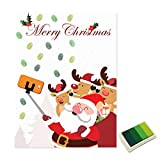 Weihnachten Weihnachtsmann Gästebuch personalisierte Party Geschenke Fingerabdruck Malerei DIY Partydekorationen für Wohnzimmer - grün