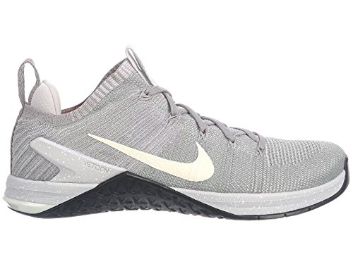 NIKE Men's Metcon DSX Flyknit 2 Matte Silver/Sail/Atmosphere Grey Nylon Running Shoes 12 D(M) US -