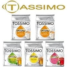 Tassimo paquete de 5té mezcla de diferentes por paquete = 80T-Discs (sabor té cápsulas, 16Cápsulas en Total)