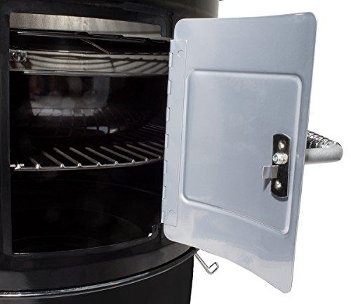 Beeketal 'BRO-V8e' Smoker Räucherofen elektrisch aus Stahl inkl. 3 Roste, bis 200 °C stufenlos einstellbar, Innenraum Thermometer, Räuchertonne auch zum kalträuchern - Maße (B/H): ca. 600 x 840 mm