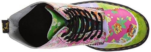 Dr.Martens Womens Pascal Daze 8-Eyelet Synthetic Leather Boots Multicolore