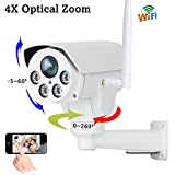 #4: ProElite POD04 PTZ WiFi Wireless HD Outdoor Waterproof 4X Optical Zoom 960p IP Security Camera CCTV (supports upto 128 GB SD card)