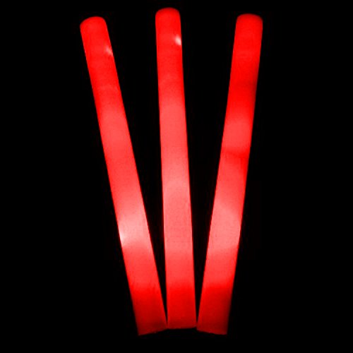 Glowtopia, LED-Schaumstoff-Stab, 45,7cm, leuchtet farbig