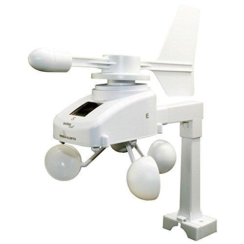 Mobile Alerts MA 10660 Windsensor, Zusatzsensor, Datenübertragung auf das Smartphone, Alarmierung via Push-Mitteilung weiß, 18,5 x 30 x 20,5 cm