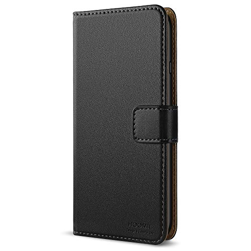 HOOMIL iPhone 7 Hülle, iPhone 8 Hülle, Handyhülle iPhone 7 Tasche Leder Flip Case Brieftasche Etui Schutzhülle für Apple iPhone 7 / iPhone 8 Cover (4,7 Zoll) - Schwarz