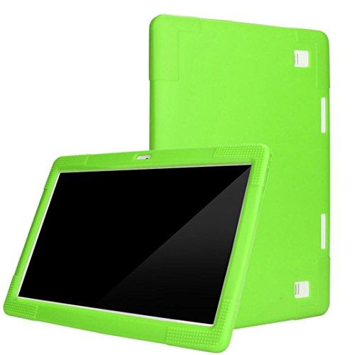 Tablet PC Schutz Abdeckungs Fall Universal Silikon Abdeckungs Standplatz für 10 / 10.1 Zoll Anti-Dirt / Anti-Shock / Einfach zu Tragen Multicolor Optional (Green) (Tablet Samsung Fällen Für Kinder)