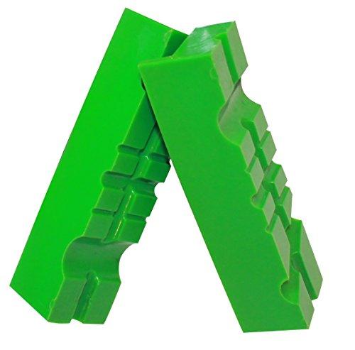 Weiche Schraubstock-Schutzbacken | GRIP&BENDER 100mm / 125mm / 150mm 60°/90° | Magnetische-Schonbacken aus TPU-Kunststoff | Schützen Ihr Werkstück | (117MM)