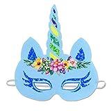 SJZC Maske Halloween Cosplay Cartoon-Muster Papier Masken Einhorn Party Kind Augenmaske,4