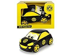 Dickie Toys 203174001 Happy Opel Adam Car, Spielzeugauto mit Freilauf, Spielauto mit BVB Logo, 26,5 cm, ab 1 Jahr, gelb/schwarz