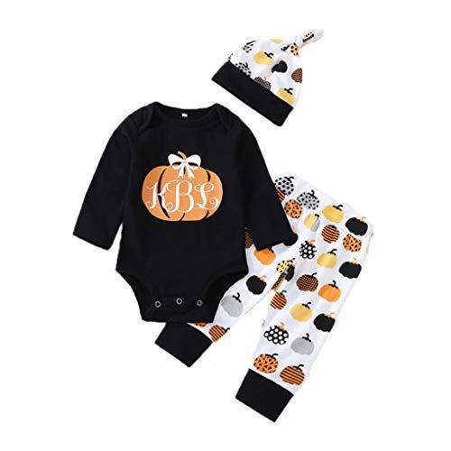 LafyHo 3pcs / Set de Halloween de los bebés del Body de niño de Mang