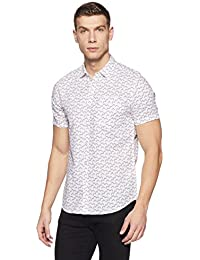 Lee Men's Printed Slim Fit Casual Shirt
