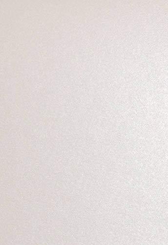 Clairefontaine 4199C Packung mit 50 Blatt Pollen, DIN A4, 210 x 297 mm, 120g, Perlmutt Weiß