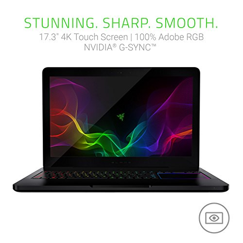 Razer Blade Pro 43,9 cm (17,3 Zoll 4K Touch) Gaming Notebook (Intel i7-7820HK, 32GB RAM, 512GB SSD, GeForce GTX 1080, Windows 10)