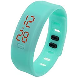 Bocideal Unisex Date Sports Rubber LED Bracelet Digital Watch