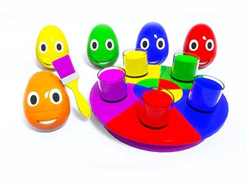 Farben lernen mit kleinen Eiern - charmantes Karussell