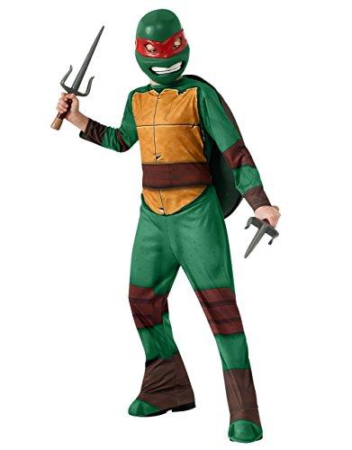 TMNT Raphael Costume Kinder Teenage Mutant Ninja Turtle Kostüm, Größe M, Alter 5-7, Höhe 4'5.08 cm - 4'15.24 cm