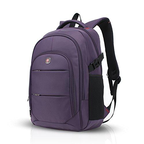 Imagen de fandare  para ordenador portátil de hasta 17 pulgadas recorrido del morral al aire libre acampada y senderismo impermeable escuela y actividades bolso mujeres y hombres poliéster púrpura grande