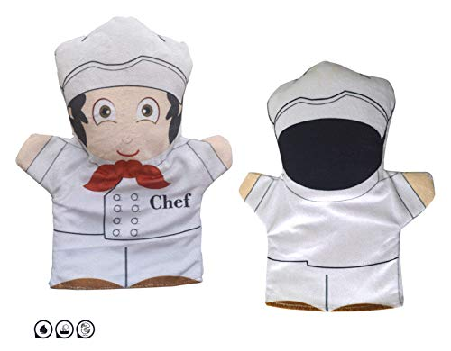 Cuddly Toys Chef Hand Puppet for Kids & Adults (12inch)