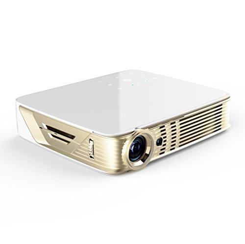 Deeirao Mini-Projektor, tragbar, 3D, DLP, Home Theater / Video, Android 5.1, Quad Core Dual Band WiFi, unterstützt 4K UHD 2160P 2D Konvertierung zu 3D mit Li-Ionen-Akku für Spiele Match Movies Study - 2d-zu-3d-projektor