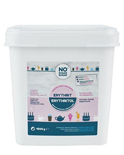 NO SUGAR SUGAR Erythrit Eimer, zuckerersatz kalorienfrei, 4.5 kg