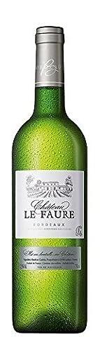 Vin - Château LE FAURE BORDEAUX BLANC 2014 - Caisse de 6 bouteilles