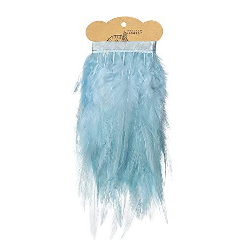 Ruby - Federn Band ideal als Dekoration zum karnival für Halloween, fest Masken, kostüme und basteln für Kinder, sicher und ungiftig (Blaues Pastell) (Basteln Kinder Für Halloween)