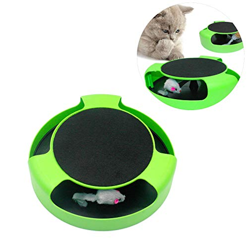 Haol Cat Gioca Toy Rotating Mouse Kitten Toy Pet Kitten Cattura Il Mouse Commovente Peluche Graffio Artiglio