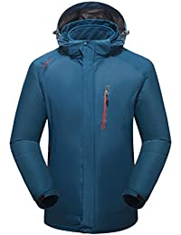 Zhhlinyuan Mens Two pieces Windproof Warm Coat Tops Adult Outdoor Breathable Deportes Jacket