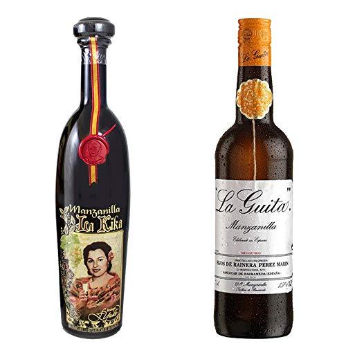 Manzanilla La Kika Y Manzanilla La Guita - D. O. Manzanilla De Sanlúcar De Barrameda - 2 Botellas De 750 Ml