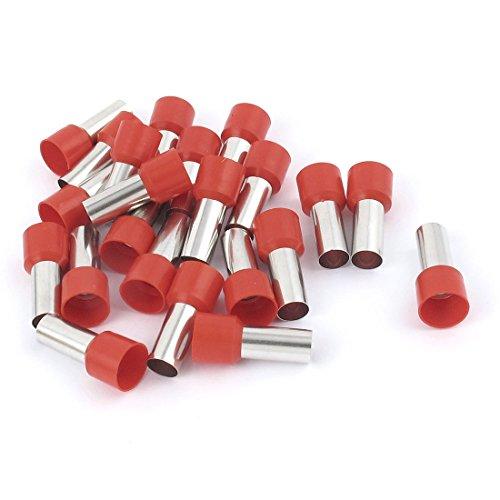 uxcell Draht Crimp Terminals Isolierte Hülse Tube rot E25-164AWG mit 20Stück, 25mm -