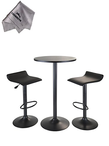 obsidian-3pc-pub-set-round-table-with-2-airlift-stools-all-black-and-with-chanasya-polish-cloth